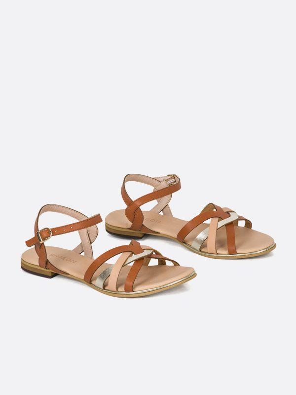 KASY3, Todos los zapatos, Sandalias Planas, Sintético, NUD, Vista Galeria