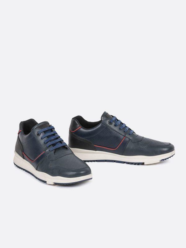 RALLE04, Todos los zapatos, Deportivos, Tenis, Casuales, Cuero, AZU, Vista Galeria