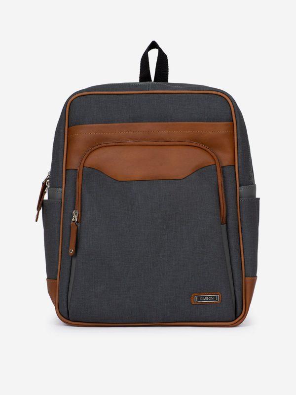 T713MS Todos los Accesorios, Morrales, Backpack, Sintetico, GRI, VistaFrontal