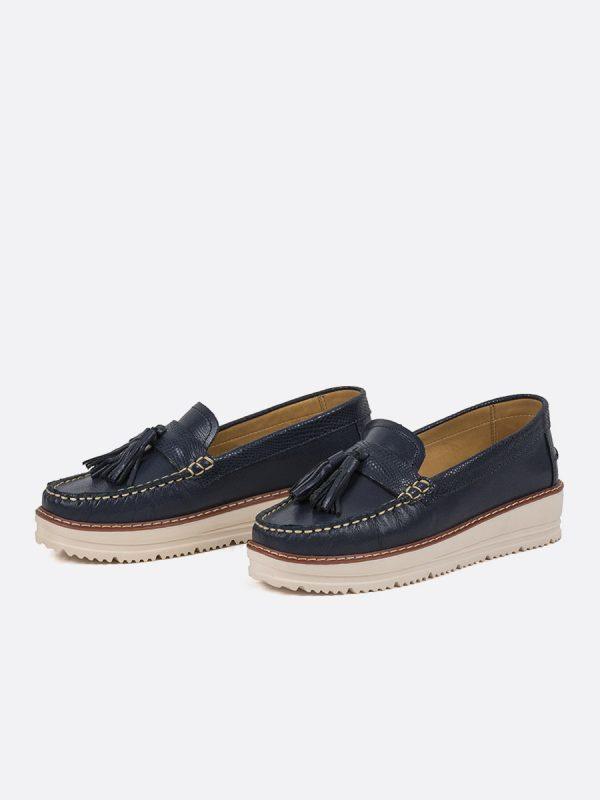 CROCO, Todos los zapatos, Mocasines, Cuero, AZU, Vista Galeria