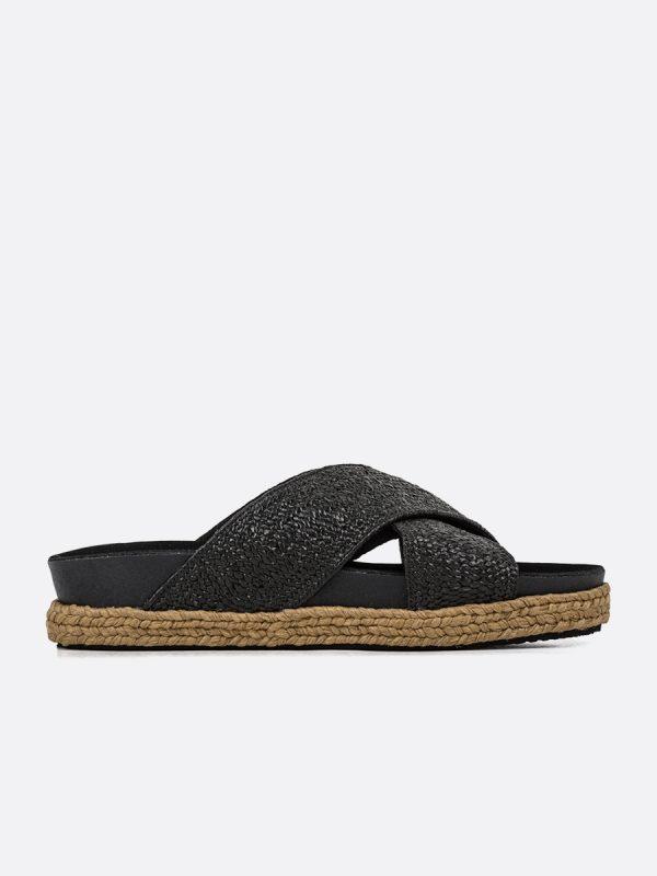 KERI3, Todos los zapatos, Sandalias Planas, Sintético, NEG, Vista Lateral