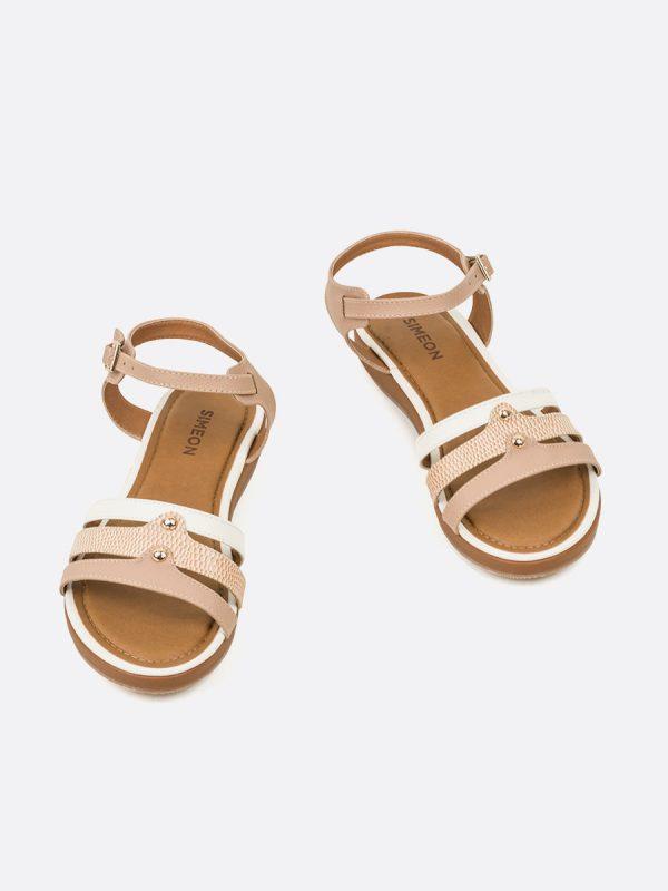 NACAR, Todos los zapatos, Sandalias Planas, Sintético, NUD, Vista Galeria
