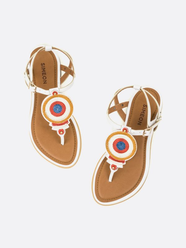 NICOL, Todos los zapatos, Sandalias Planas, Sintético, BLA, Vista Galeria