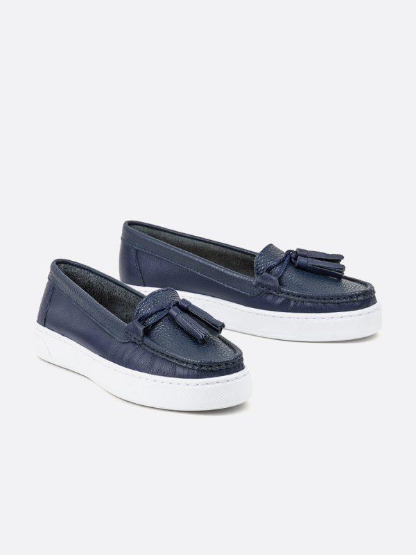 PALMER2, Todos los zapatos, Mocasines Casuales, Cuero, AZU, Vista Galeria