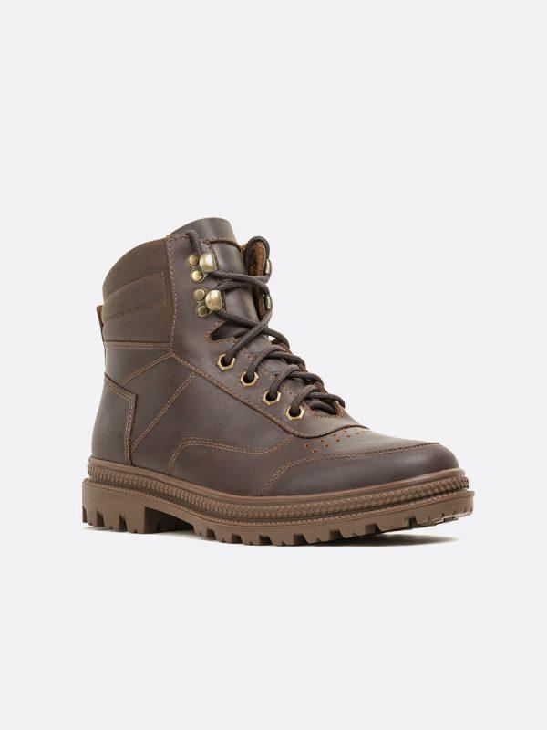 RUNNER01,Todos los Zapatos, Botas Casuales, Cuero, CAF, Vista Diagonal