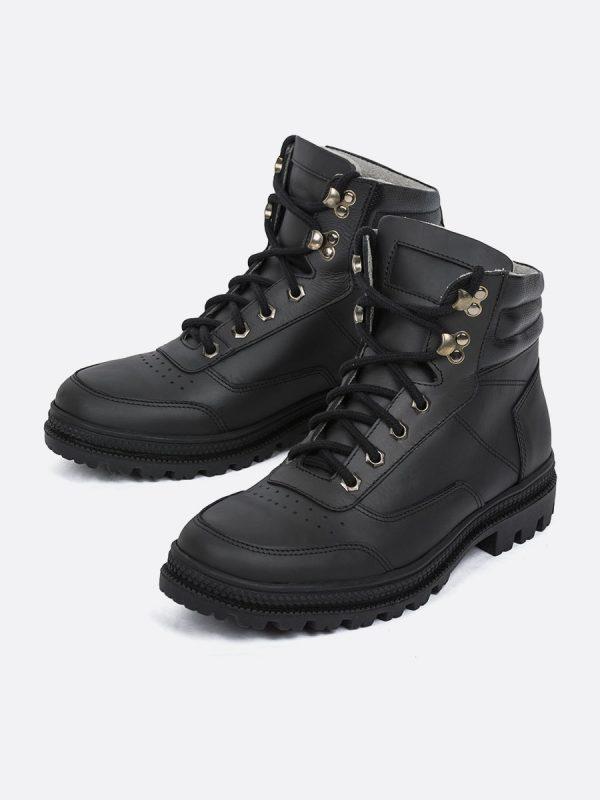 RUNNER01,Todos los Zapatos, Botas Casuales, Cuero, NEG, Vista Galeria