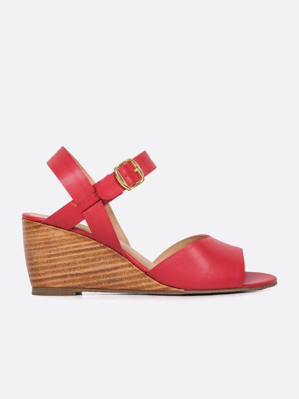 TALUA2, Todos los zapatos, Plataformas, Sandalias Casuales, Sintético, ROJ, Vista Lateral