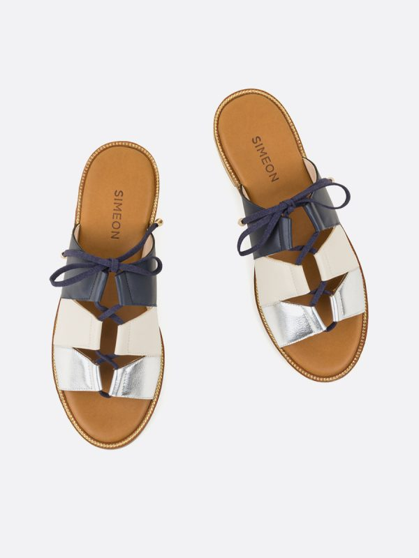 ALIDA2, Todos los zapatos, Sandalias Planas, Sintético, AZU, Vista Galeria