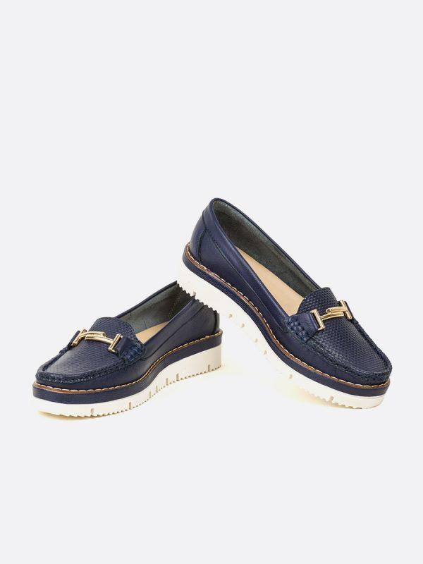 ASLEN, Todos los zapatos, Mocasines Casuales, Cuero, AZU, Vista Galeria