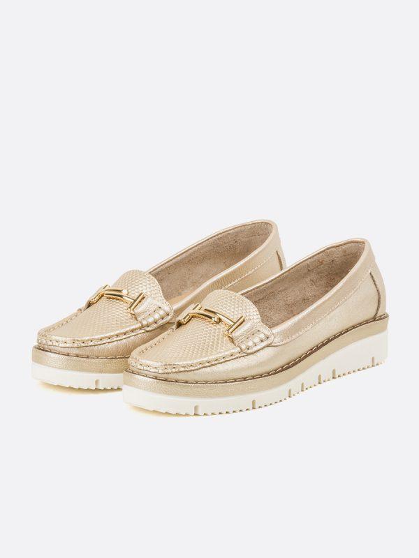 ASLEN, Todos los zapatos, Mocasines Casuales, Cuero, CHA, Vista Galeria