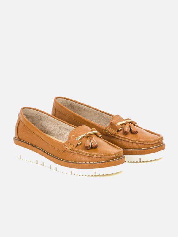 ASLEN2, Todos los zapatos, Mocasines Casuales, Cuero, MIE, Vista Galeria