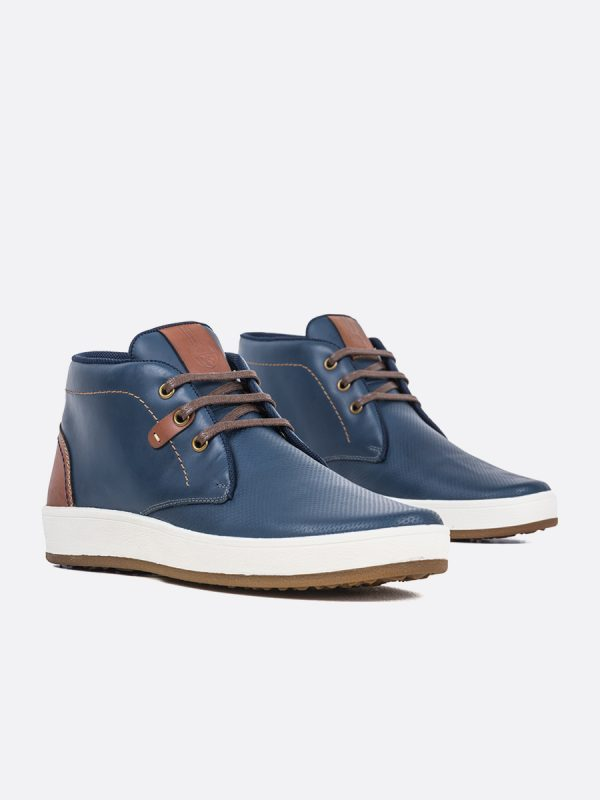 FROM02,Todos los Zapatos, Zapatos Casuales, Botas Casuales, Cuero, AZU, Vista Galeria