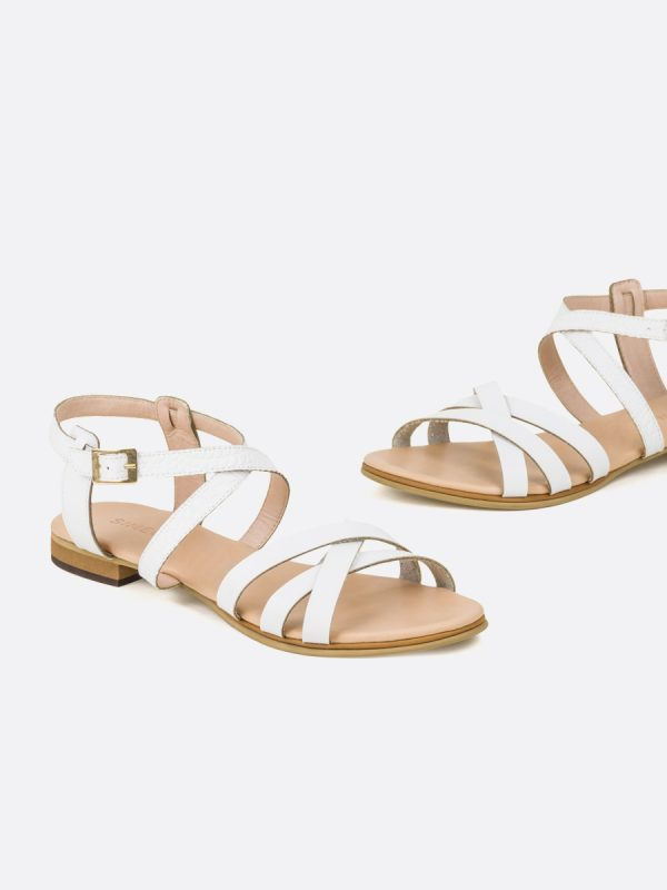 NISA3, Todos los zapatos, Sandalias Planas, Sintético, BLA, Vista Galeria