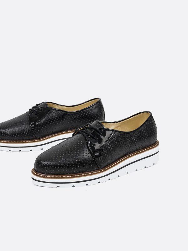 GINER, Todos los zapatos, Zapatos de Cordón, Sintético, NEG, Vista Galeria