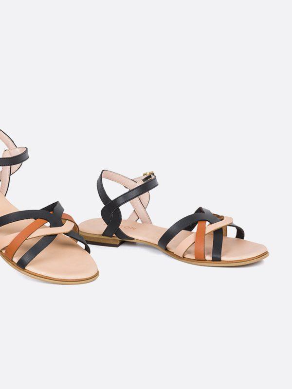 KASY20, Todos los zapatos, Sandalias Planas, Sintético, NEG, Vista Galeria