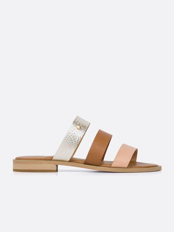 PALTA20, Todos los zapatos, Sandalias Planas, Sintético, NUD, Vista Lateral