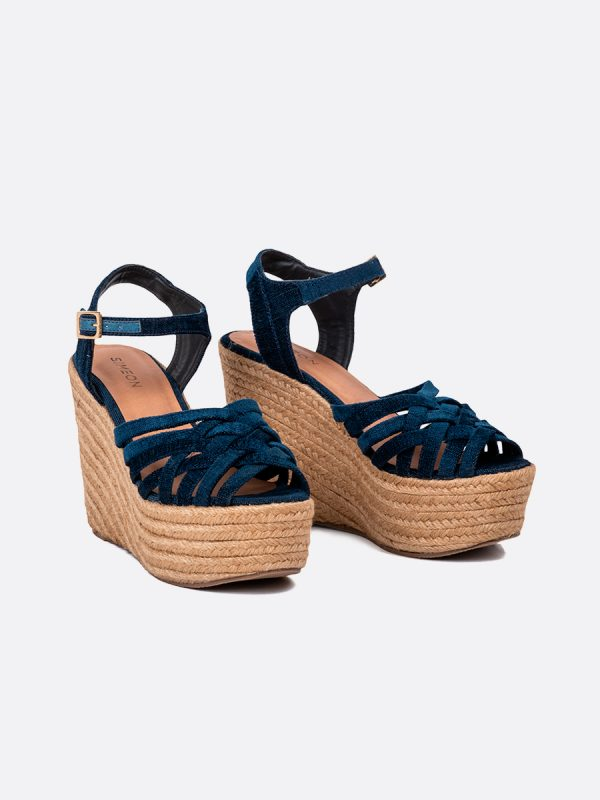 AVRIL20, Todos los zapatos, Plataformas, Sandalias Plataformas, Sintético, AZU, Vista Galeria