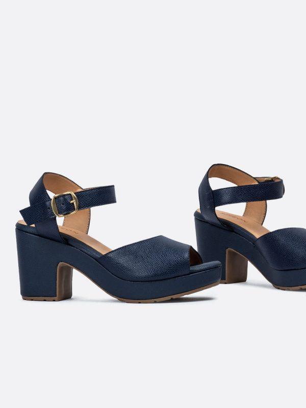 BRUNET02, Todos los zapatos, Sandalia con Tacón, AZU, Vista Galeria
