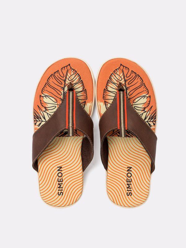 KASSIE01-Todos los zapatos, Sandalias para hombres, Cuero, CAF, Vista Galeria