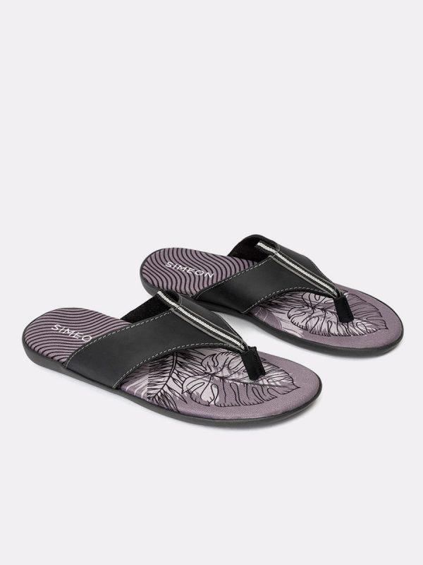 KASSIE01-Todos los zapatos, Sandalias para hombres, Cuero, NEG, Vista Galeria