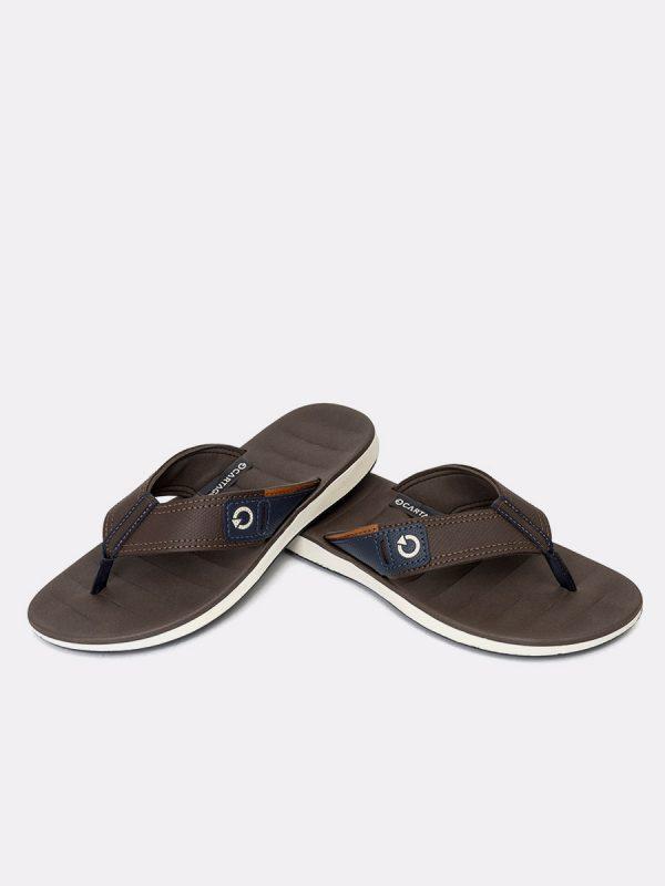 MALAGATH20-Todos los zapatos, Sandalias para hombres, Cuero, CAF, Vista Galeria