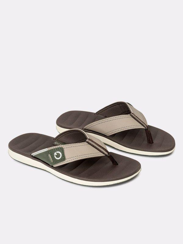 MALAGATH20-Todos los zapatos, Sandalias para hombres, Cuero, GRI, Vista Galeria