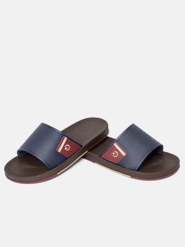 SIENAII20-Todos los zapatos, Sandalias para hombres, Cuero, AZU, Vista Galeria