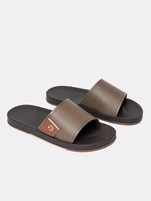 SIENAII20-Todos los zapatos, Sandalias para hombres, Cuero, CAF, Vista galeria