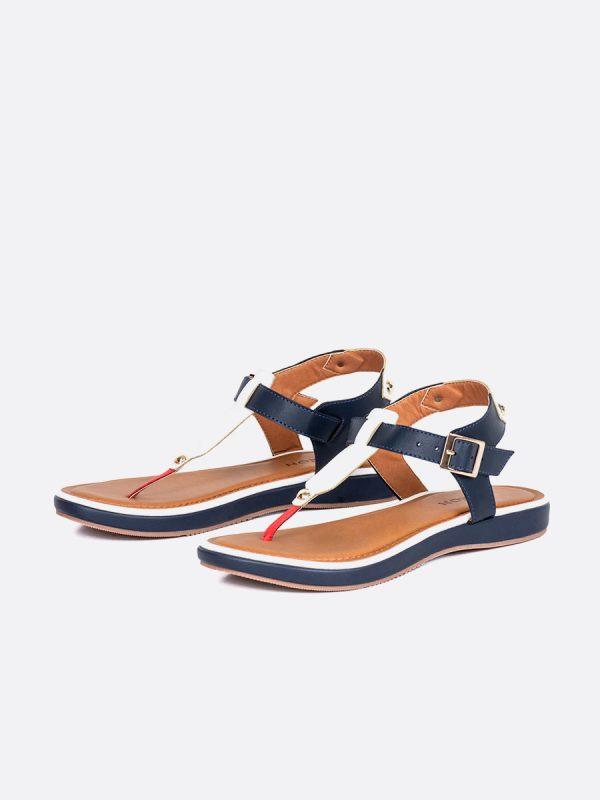 SUNY, Todos los zapatos, Sandalias Planas, Sintético, AZU, Vista galeria