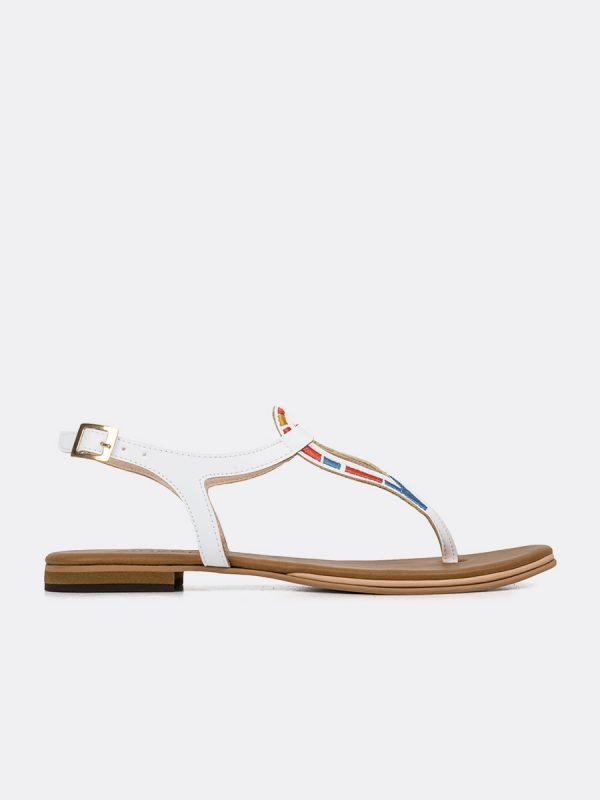 MIRY, Todos los zapatos, Sandalias, Sandlias Planas, Sintético, BLA, Vista Lateral