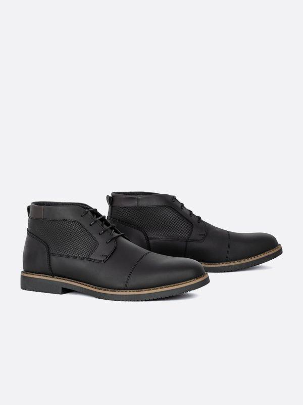 RIBE02-NEG, Todos los zapatos, Botas , Casuales, Cuero, Vista galeria