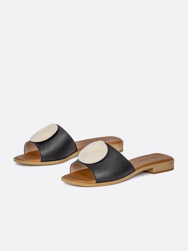 TALED2-NEG, Todos los zapatos, Sandalias Planas, vista galeria