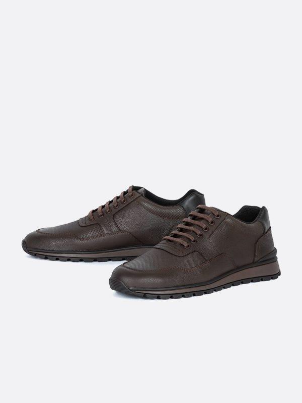 ZANS03-CAF, Todos los zapatos, tenis, Cuero, Vista galeria