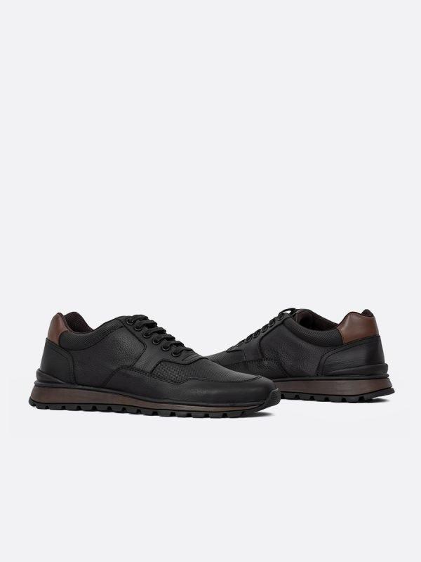 ZANS03-NEG, Todos los zapatos, tenis, Cuero, Vista galeria
