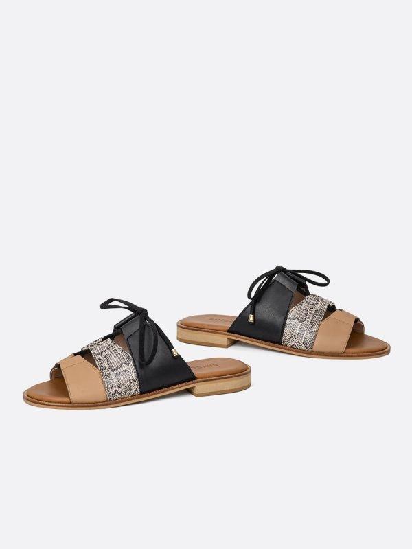 ALIDA21-NEG, Todos los zapatos, Sandalias Planas, vista galeria