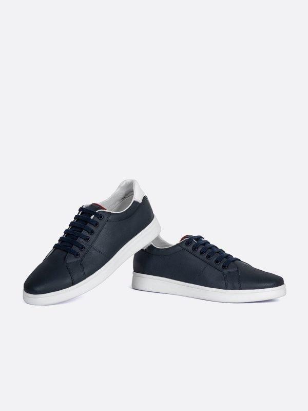 IZAN02-AZU, Todos los zapatos, tenis, Cuero, Vista galeria
