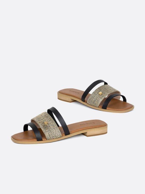TALED4-NEG, Todos los zapatos, Sandalias Planas, vista galeria