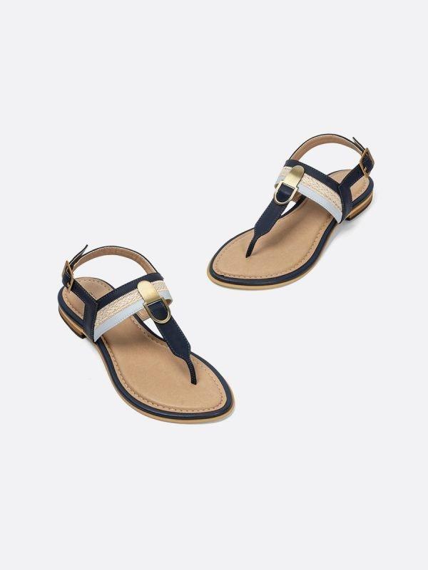 ABER4-AZU, Todos los zapatos, Sandalias Planas, vista galeria