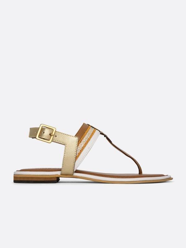 ABER4-NUD, Todos los zapatos, Sandalias Planas, vista lateral