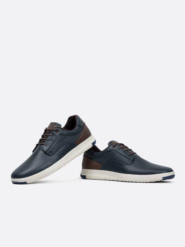 ADAM04-AZU, Todos los zapatos, Casuales, Cuero, Vista galeria