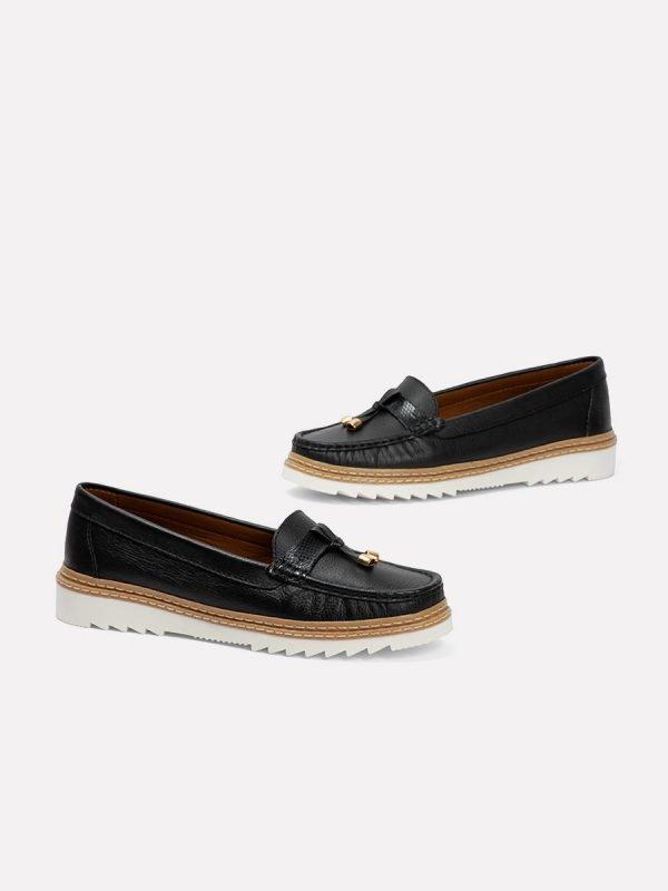 ANTO21-NEG, Todos los zapatos, Mocasines, Cuero, Vista galeria