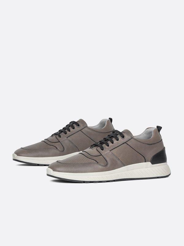 DOKI07-GRIS, Todos los zapatos, tenis, Cuero, Vista galeria