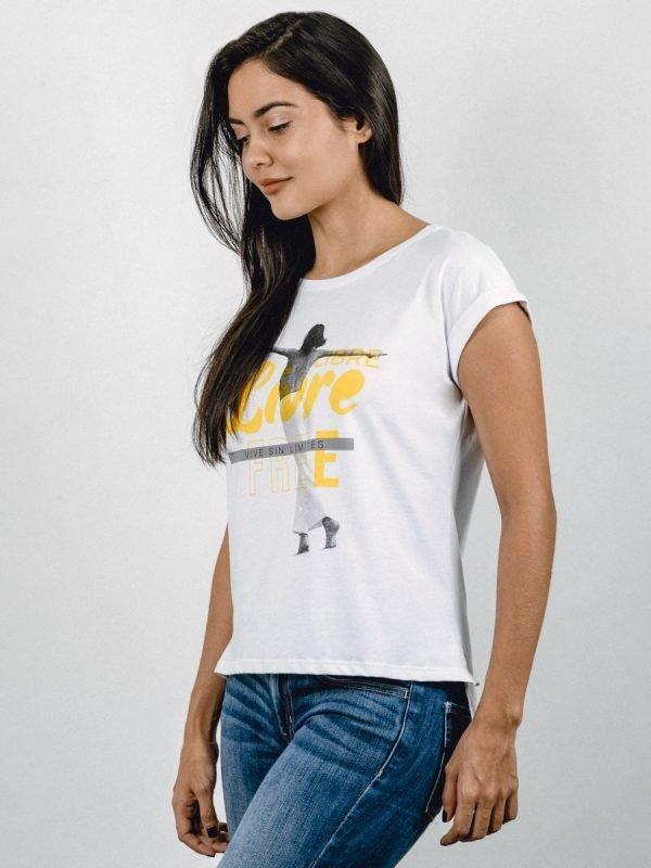 T03M-LIBRE, Todos los Accesorios, ropa, camisetas, Vista DIAGONAL