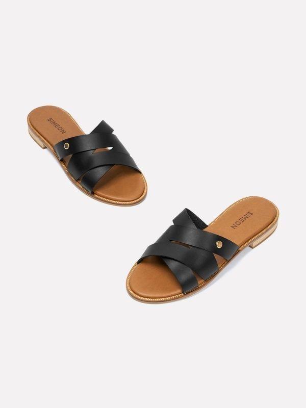 TALED-NEG, Todos los zapatos, Sandalias Planas, vista galeria