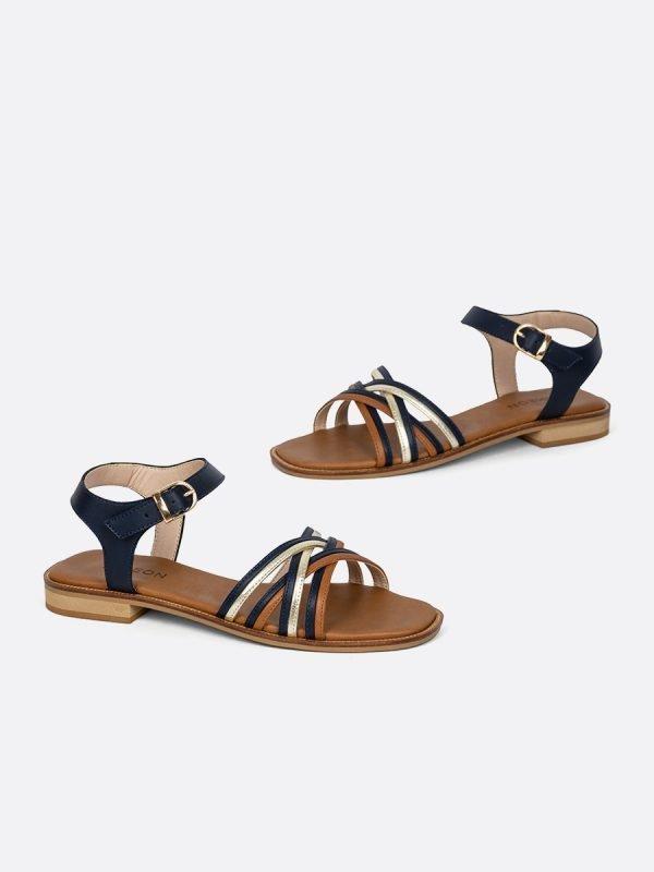 TALED6-AZU, Todos los zapatos, Sandalias Planas, vista Galeria