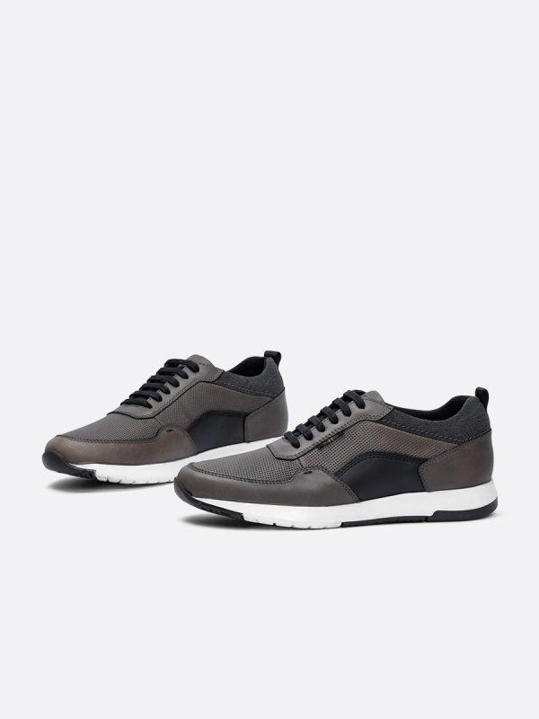 BAJIR03-GRI, Todos los zapatos, tenis, Cuero, Vista Galeria