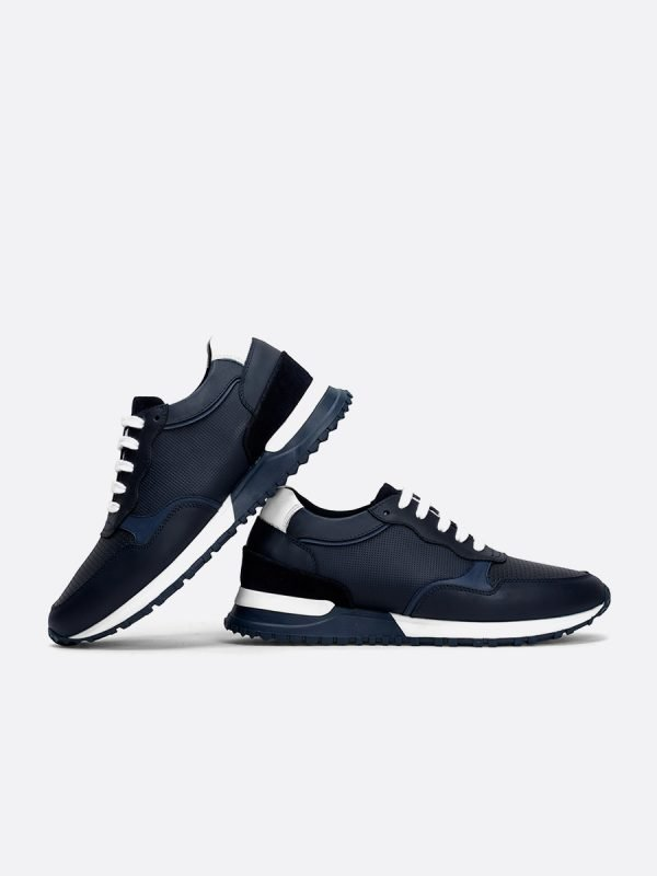 KANON11-AZU, Todos los zapatos, Casuales, Cuero, Vista Galeria