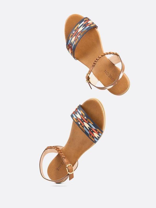 NAVY-AZU, Todos los zapatos, Sandalias Planas, vista Galeria