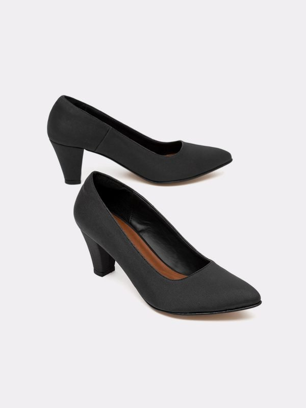 AMBAR21-NEG, Todos los zapatos, Zapatos de Tacón, Sintético, Vista Galeria