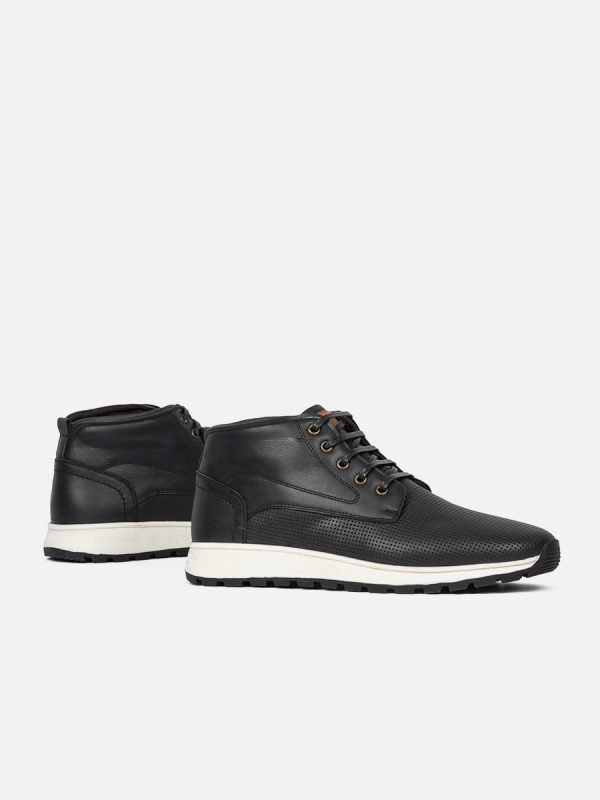 FLAX02-NEG, Todos los Zapatos, Botas Casuales, Cuero, MIE, Vista Galeria